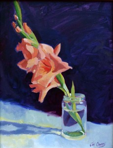 Gladiolus - 8x10 oil on canvas board - Private Collection