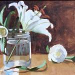 La Dame De Camillias - 8x10 oil on canvas board - SOLD