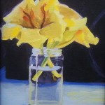 Two Golds in a Jar - 8x10 Oil painting on canvas board