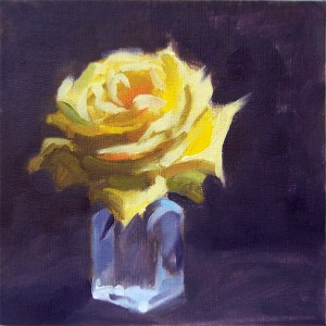 Yellow Rose Oil Painting